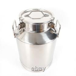 50L 13.25 Gallon Stainless Steel Milk Can 380mm/15inch Tote Jug Heavy Gauge SALE