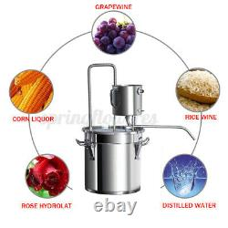 50L 13.2Gal Water Wine Alcohol Distiller Moonshine Still Boiler Stainless Steel