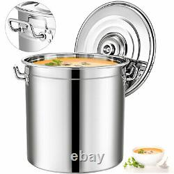 53 Quart Stainless Steel Stock Pot Cooking 13 Gallon Kitchen Soup Pot with Lid