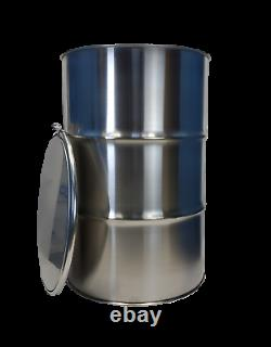 55 Gallon Stainless Steel Barrel Drum Open Top 1.0mm thick NEW