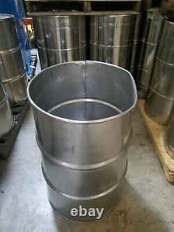 55 Gallon Stainless Steel Open Head Barrel NO LID INCLUDED