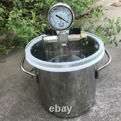 5L Stainless Steel Vacuum Chamber 1.5 Gallon Vacuum Defoaming Barrel for Resin Y