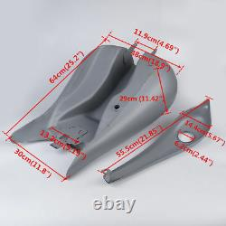 6.6 Gallon Stretch Gas Fuel Tank Fuel Tank Cap Fit For Harley Street Glide 08-21