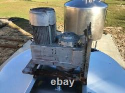 600 Gallon High Shear Mixing 304 Stainless Steel Tank, 7.5 HP @ 1750 RPM
