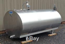 600 Gallon Stainless Steel Tank, Horizontal, Sanitary