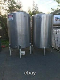 600 gallon Stainless Steel Processing Tank for Alcoholic Beverage Production