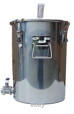 7 Gallon Chapman Stainless Fermenter Boil Kettle Portless Beer Wine Moonshine
