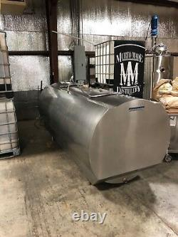 700 gallon Mueller jacketed stainless steel tank brewery distillery dairy farm