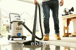 8 Gal Shop Vac Wet Dry Vacuum 6.0 HP Stainless Steel Locking Attachments New