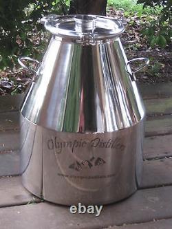 8 Gallon Stainless Steel, Moonshine Whiskey Still Boiler kettle mash pot
