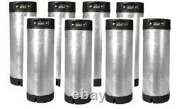 8 Pack 5 Gallon Ball Lock Kegs Reconditioned Homebrew Draft Beer + O-Ring Kit