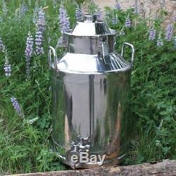 8 gallon stainless steel moonshine e85 water kettle boiler no still column 2