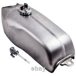 9L 2.4 Gallon Gas Fuel Tank for Honda BMW Yamaha Suzuki Cafe Racer Motorcycle