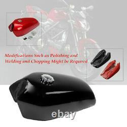 9L/2.4 Gallon Motorcycle Bike Cafe Racer Vintage Fuel Gas Tank & Tap Universal