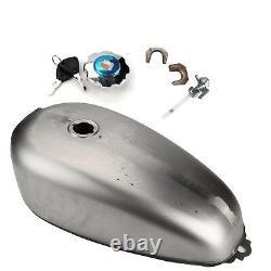 9L 2.4 Gallon Motorcycle Gas Fuel Tank Custom Steel Cafe Racer for Honda CG125