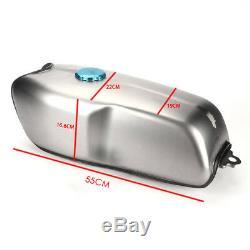 9L / 2.4 Gallon Universal Custom Cafe Racer Gas Fuel Tank for BMW Honda Yamaha