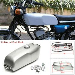 9L/2.4 Gallon Universal Motorcycle Cafe Racer Gas Fuel Tank fit for Honda Yamaha