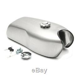 9L/2.4Gallon Motorcycle Custom Cafe Racer Gas Fuel Tank Fit for BMW Honda Yamaha