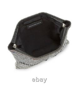Alexander Wang Wangloc Rhinestone Gallon Pouch Silver Crystal New MSRP $1495