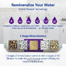 Alkaline Reverse Osmosis Water Filtration System Mineral RO 50 GPD