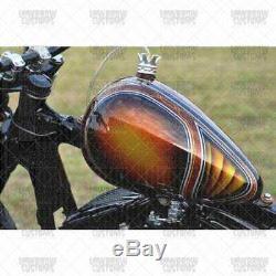 Axed 2.2 gal chopper Gas Tank Harley Ironhead Sportster Triumph Yamaha XS650 BSA