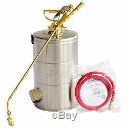 B&G 2 Gal Sprayer 18-inch Wand 4 Way Tip 48 Hose (N224-S) Stainless Steel Tank