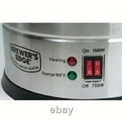 BREWER'S EDGE Sparge Water Heater 4 Gal Plug In Electric Kettle 750w 1500w