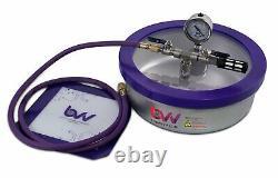 BVV Best Value Vacs 1 Gallon Flat Stainless Steel Vacuum Chamber