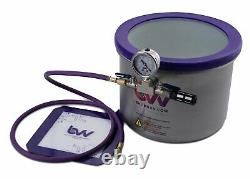 BVV Best Value Vacs 3 Gallon Wide Stainless Steel Side Mount Vacuum Chamber