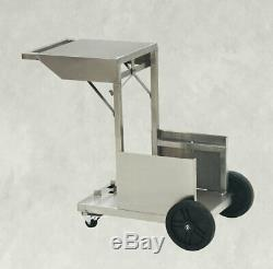 Bayou Classic Stainless Steel Accessory Cart for 4-Gallon Fryer Model 700-185