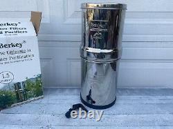 Berkey 1.5 Gallon Water Filters Stainless Steel+ black filter! Excellent! Read