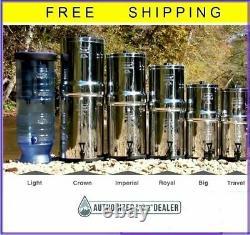 Berkey Water Filter Sys w2 Black CHOOSE Big Travel Royal Imperial Crown Light