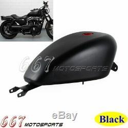 Black 3.3 Gallon EFI Fuel Gas Tank Motorcyle Fuel Gas Tank For Harley Sportster