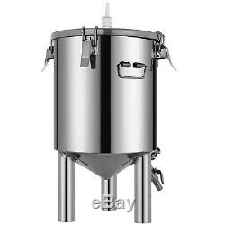 Brew Bucket Stainless Steel 304 Conical Fermenter 7 Gallon, Brewmaster Edition