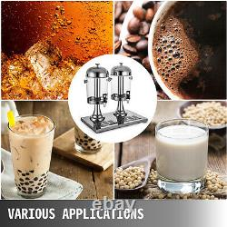 COMMERCIAL JUICE BEVERAGE COLD REFRIGERATED 2 DRINK DISPENSER MACHINE 16L 4.2Gal