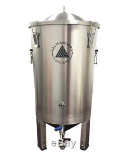 DELTA FermTank 8 Gallon (30 L) Stainless Steel Conical Fermenter Adjustable Legs