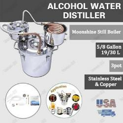 DIY 5GAL/8GAL 3Pot Wine Alcohol Water Distiller Moonshine Still Boiler New USA