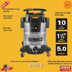 DeWalt 10 Gallon Wet/Dry Vacuum 10 gal. Capacity Powerful 5 Peak Horsepower NEW
