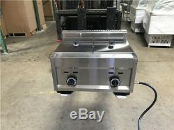 Deep Fryer 7 Gallon Double Propane Commercial Countertop Kitchen Home Dual New