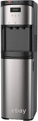 HOmeLabs Bottom Loading Water Dispenser 3/5 Gal Bottle with Stainless Steel Hot/Co
