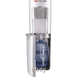 Hot Cold Water Cooler Dispenser Bottom Load 5 Gallon Stainless Steel Silver NEW