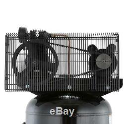 Husky Electric Air Compressor 60 Gal. Cast Iron Pump Single Stage Count Steel