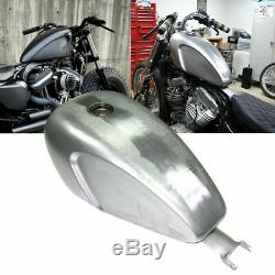 Indented 3.3 GAL Carb/EFI Gas Fuel Tank For Harley Sportster 883 1200 XL Models