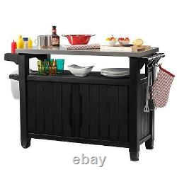 Keter Unity XL 78 Gal Patio Storage Unit BBQ Grilling Bar Cart (For Parts)