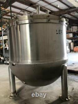 LEE Industries 1000D12T Industrial 850 Gallon Stainless Steel Jacketed Kettle