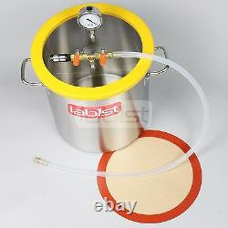 Lab1st 5 Gallon Stainless Steel Vacuum Chamber Silicone Kit for Degassing