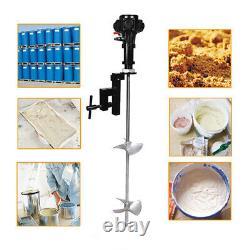 Mixer 50 Gallon Tank Barrel 1/2HP Pneumatic Air Mix Clip Bracket Stainless Steel