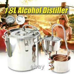 Moonshine 5 Gallon Stainless Water Wine Alcohol Distiller Boiler Kit Home DIY