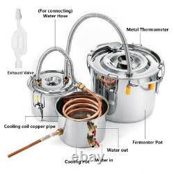 Moonshine Still 5Gal/20L Water Alcohol Distiller Home Brew Wine Making Kit 3 Pot