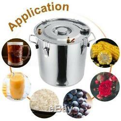 Moonshine Still 8Gal 30L Water Alcohol Distiller Home Brew Wine Making Kit 3 Pot